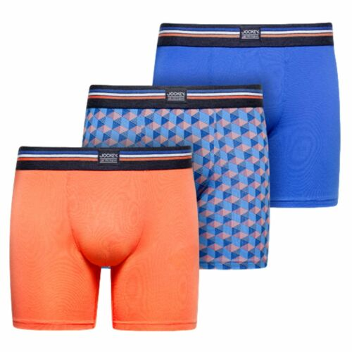 Details about  /Jockey USA Originals Cotton Stretch Boxer Trunk 3-Pack Nebulas Blue