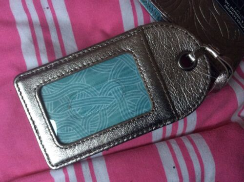 """American Designer /""""The Sak/"""" Leather Passport Cover With Matching Luggage Tag"""