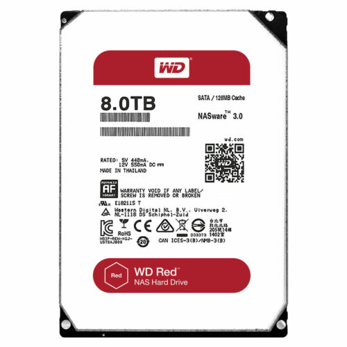 1 of 1 - Western Digital WD80EFZX Red  Hard Drive