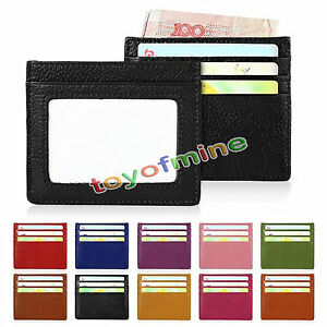 Genuine-Real-Leather-RFID-Blocking-Slim-Thin-Credit-ID-Card-Holder-Case-Wallet