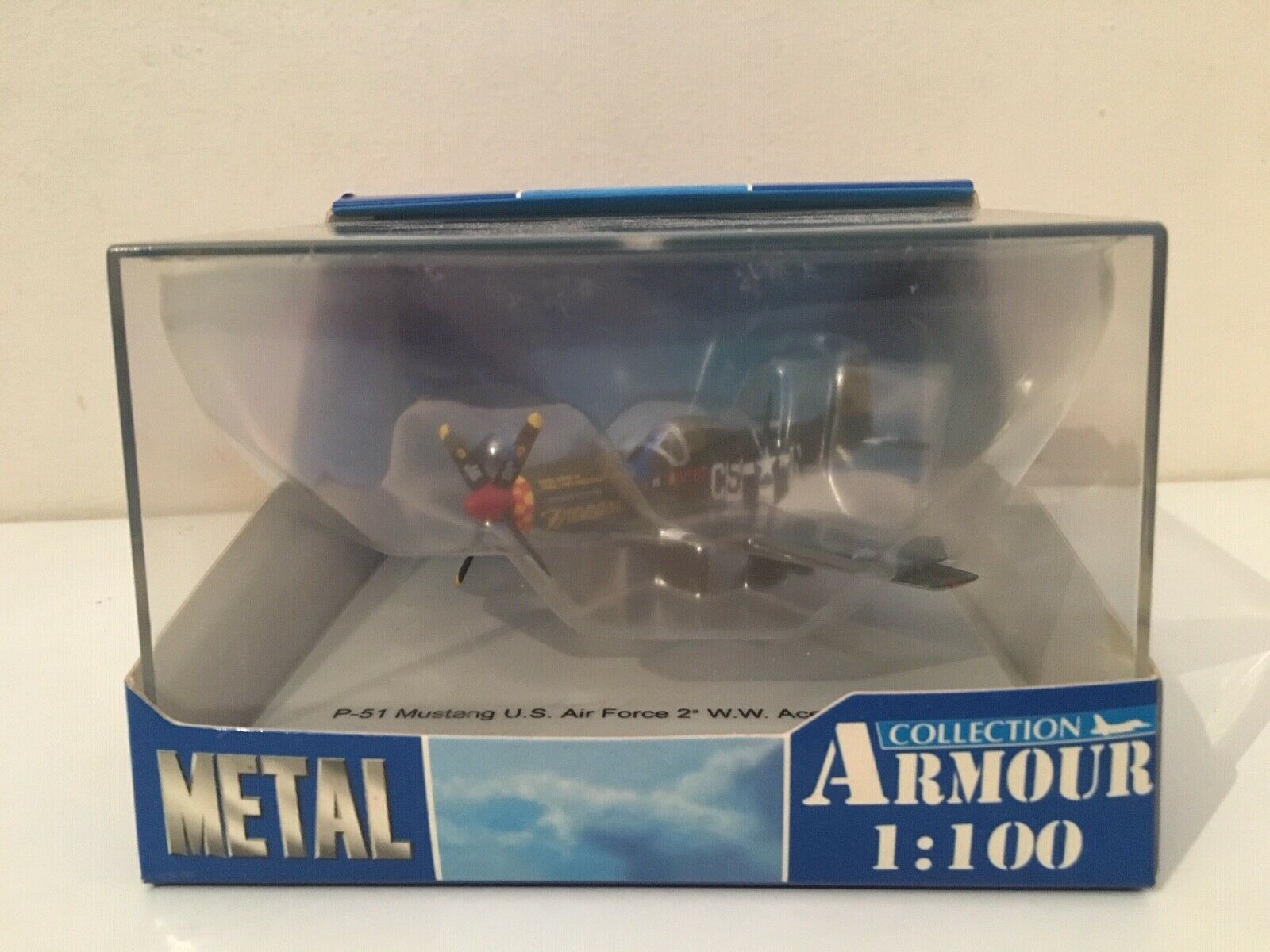 1 100 Franklin Mint armadura 5323-P-51 MUSTANG US Air Force-Frenesi