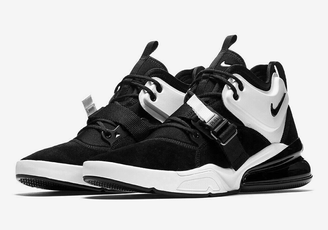 Nike Air Force 270 Men's Sz 8.5 Basketball shoes MSRP  160 Black Wht AH6772-006