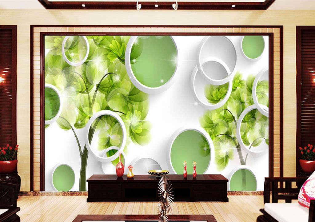 Beautiful Grün Flowers 3D Full Wall Mural Photo Wallpaper Print Home Kids Decor