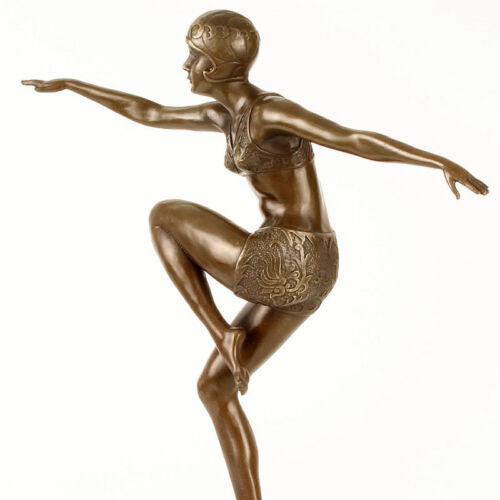 ART DECO BRONZE FIGUR /'CON BRIO DANCER/' weltberühmte TÄNZERIN FEUER und ESPRIT