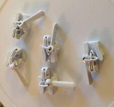 10 PIECE lot #3 Nylon Invisible Zipper Slide Pull White  ykk