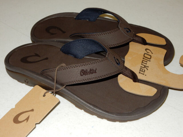 9c7bed3d23e OluKai Mens Sandals Ohana Dark Wood Size 15 for sale online