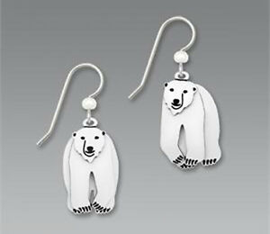 Image Is Loading Sienna Sky 3 Part Polar Bear Earrings Sterling
