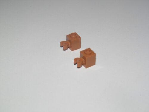 Lego ® Lot x2 Brique Pince 1x1 Brick with Clip Vertical Choose Color ref 30241