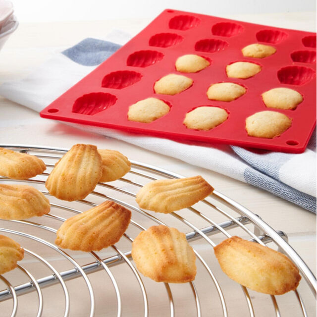 20-Cavity  Mini Fancy Bundt Madeleine Shell Cake Pan Silicone Mold Baking Mould