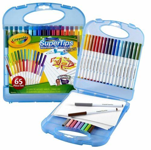 Crayola Supertips Lavable Marqueurs et Papier Set 65 Kit Pièce