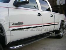 99-06 Silverado/Sierra Crew Cab 6.5' Short Bed Flat Chrome Body Side Molding 8Pc