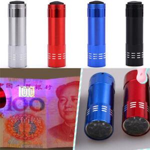 Mini-Aluminum-UV-Ultravlolet-LED-Flashlight-Black-light-Torch-Light-La-OYBLCA
