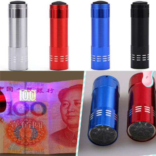 Mini Aluminium UV Ultravlolet LED Taschenlampe Schwarz Licht Fackel Licht  ZP