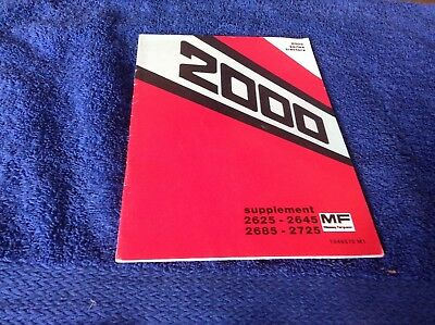 Cooperative Mf 2000 Series Tractor Supplement Book Bringing More Convenience To The People In Their Daily Life Business, Office & Industrial Massey Ferguson