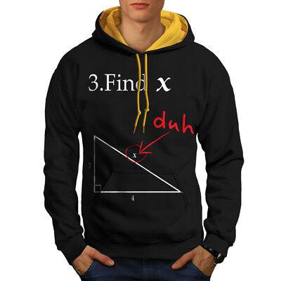Hilfreich Wellcoda Find X Mens Contrast Hoodie, Funny Math Casual Jumper