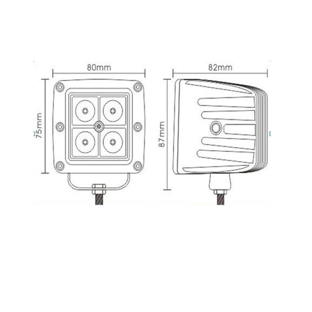2x 3 u0026quot  white red 4d led spot work light pod atv fog strobe warning  u0026 wiring kits