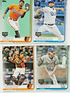 2019-Topps-Series-1-amp-2-150th-Anniversary-Gold-Stamped-Parallel-you-Pick-a-Card