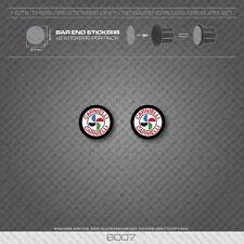 6007 - Bottecchia Carnielli Bicycle Handlebar Bar End Plug Stickers - Decals