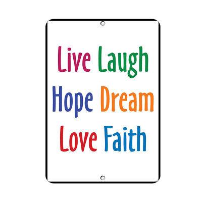 Live Laugh Hope Dream Love Faith Style 2 Funny Quote Aluminum Metal Sign Ebay
