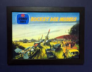 Corgi-Toys-GS-6-Rocket-Edad-Conjunto-de-Regalo-Vintage-1959-A4-tamano-poster-enmarcado-signo-de