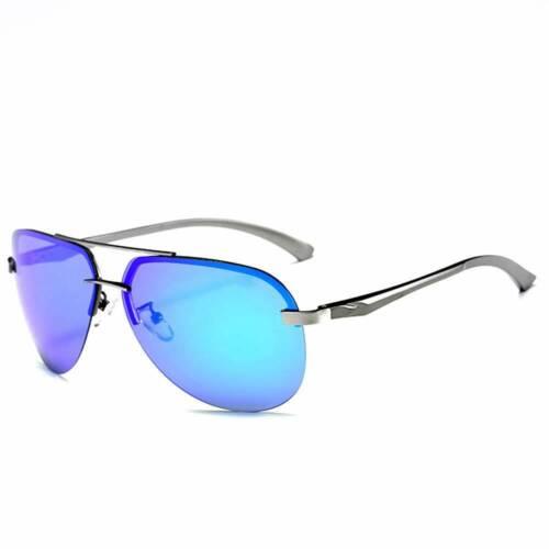 Free Box Polarized Sunglasses Men Ladies Mirror Vintage Retro Pilot
