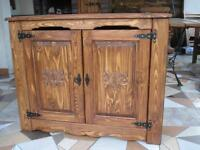 Wooden Blanket Storage Cabinet Trunk Unit Vintage Chest Shelve Furniture (am1)