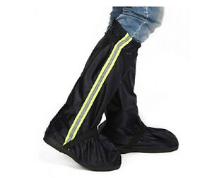 Waterproof High-top Rain Boot Covers Non-slip Rubber Sole For ...