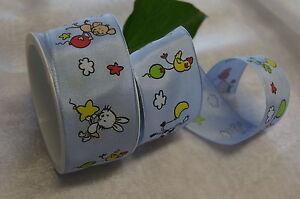 Details Zu Tischdeko Tischband Dekoration Geburt Taufe Junge Schaf Frosch Blau