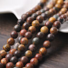 30pcs 8mm Round Natural Stone Loose Gemstone Beads Brown Howlite