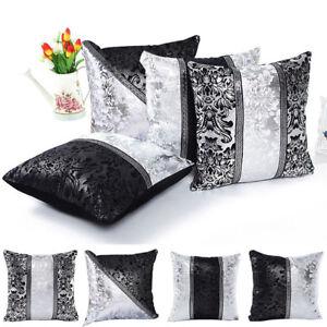 Am-ITS-AU-Black-and-White-Flower-Throw-Pillow-Cushion-Cover-Case-Home-Sofa-De