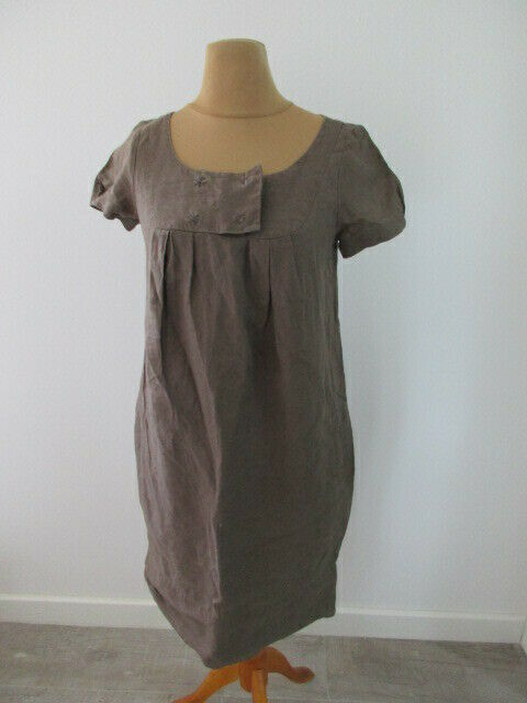 Robe en lin Comptoir Des Cotonniers Bylloon brown size 36 à - 54%