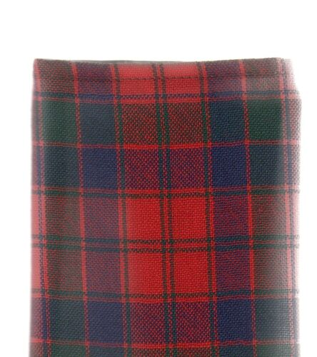 Tartan Tie Clan Robertson OR Pocket Square Scottish Wool Plaid
