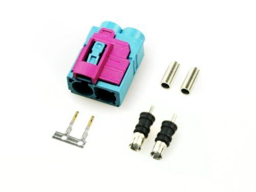 1x Fakra Double Socket Bushes Contact Pin Housing Plug Uni Female