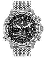 Citizen JY8030-83E Men's Navihawk Stainless World Time Perpetual Calendar Watch