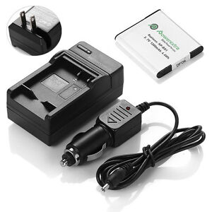 Np Bn1 N Type Battery Charger Combo Kit For Sony Cyber