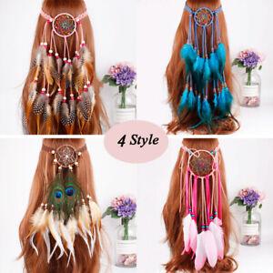 Party-Hippie-Feather-Headband-Dream-Catcher-Festival-Tribal-Hairband-Headdress