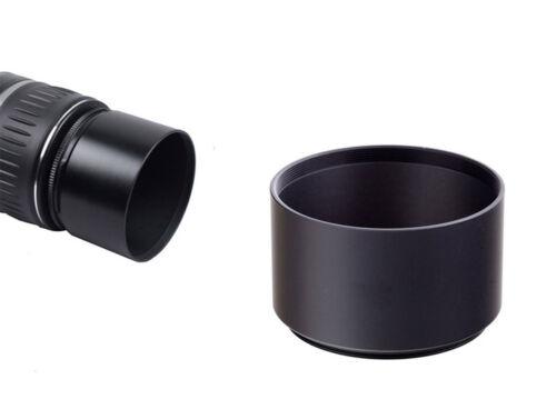 55mm Black Metal 35mm Long Screw in Lens Hood 55mm Thread UK SELLER