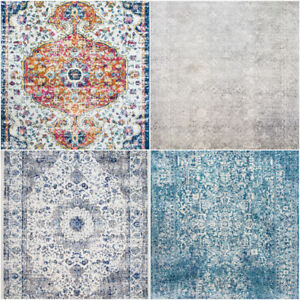 Distressed-Duck-Egg-Grey-Blue-Unique-Faded-Vintage-Oriental-Faded-Looking-Rugs