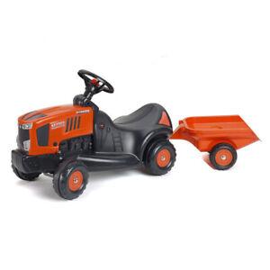 Kubota Branded Orange M7151 Ride on Tractor with Trailer