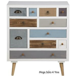 Image Is Loading Scandinavian Chest Of Drawers Wooden Multi Color Storage