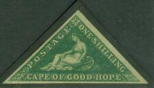 SG 8b Cape of good hope 1/- deep green. Fresh mounted mint. Full margins...