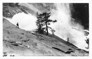 RPPC-Waterwheel-Falls-Tuolumne-Canyon-Yosemite-CA-c1950s-Vintage-Postcard