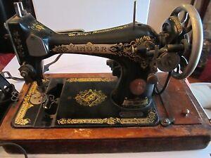 Vintage Singer Sewing Machine G5786927 Black Amp Gold