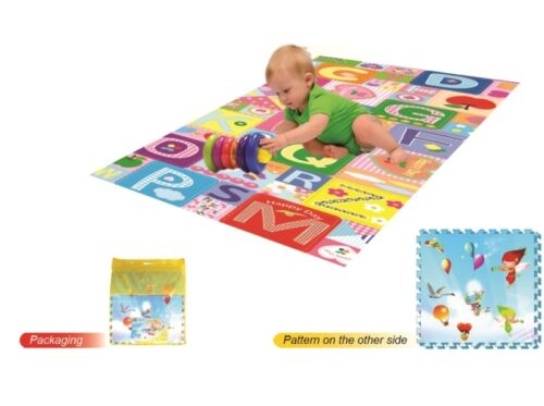 KIDS EVA INTERLOCKING SOFT FOAM ACTIVITY PUZZLE PLAY DOUBLE SIDED MAT Babies