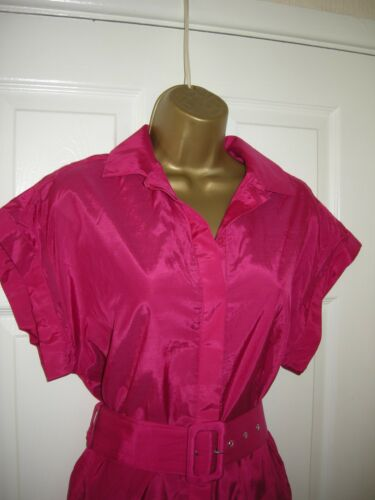 crayon ceintures Party 80's mini 14 rose Robe crayon 70's chemise vif Retro U1WtPA