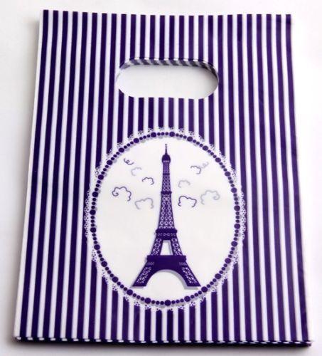 50Pcs Pretty Pattern Plastic Jewelry Gift Bag Handbag Shopping Bags 15x20cm