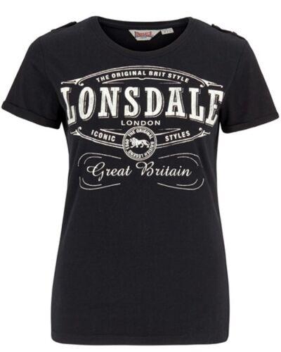Lonsdale Damen T-Shirt Saint Annes Schwarz Black
