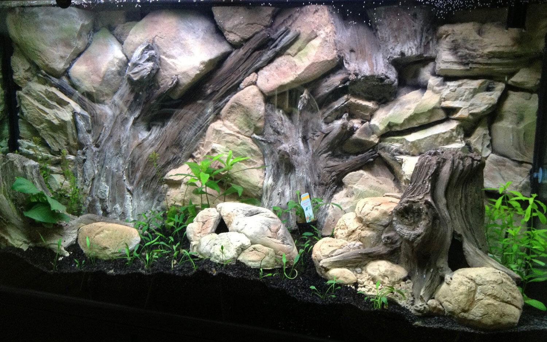 Vasca dei Pesci Ornamento grotta pietra Pesce nascondere vuoto vuoto vuoto all'interno decorazione acquario b9576c