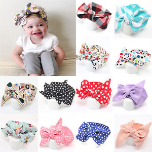 Headband Kids Girl Toddler Baby Bow Flower Hair Band Accessories Headwear