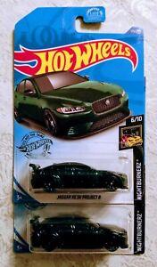 - Nightburnerz 6//10 Jaguar XE SV Project 8 Silver 2020 Hot Wheels NIP